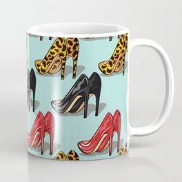 Dancing Shoes on Aqua Coffee Mug