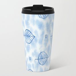Watercolor print with leaves Travel Mug