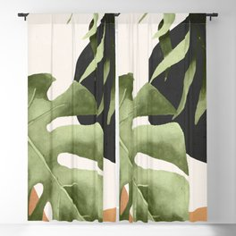 Abstract Art Tropical Leaves 23 Blackout Curtain