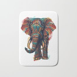 Ornate Elephant (Watercolor) Badematte
