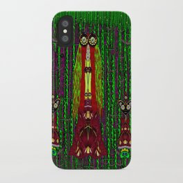 Lady Frida Kahlo arrived to the fantasy forest iPhone Case