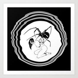 SHIBARI WIDOW Art Print