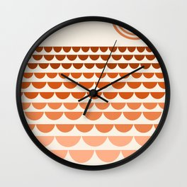 Boogy - retro 70s vibes sunset ocean water desert socal california travel retro minimal Wall Clock