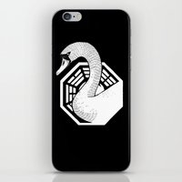 swan iPhone & iPod Skins featuring Swan by jared stumpenhorst