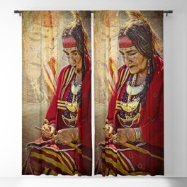Native American Beauty Blackout Curtain