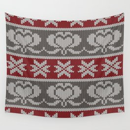 Ugly knitted Hearts Wall Tapestry