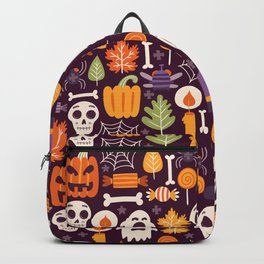 Retro Halloween Trick-Or-Treat Collage Backpack