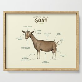 Anatomy of a Goat Serving Tray