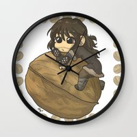 kili Wall Clocks featuring Kili&Walnut by AlyTheKitten