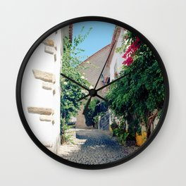 Portugal, Obidos (RR 181) Analog 6x6 odak Ektar 100 Wall Clock