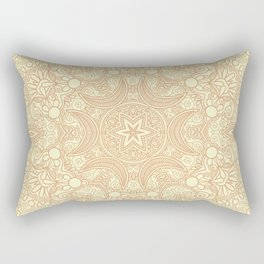 Gloria Tumbleweed Mandala With Corn Field Backdrop Rectangular Pillow