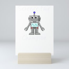 Science Fair Champion Cute Robot Mini Art Print