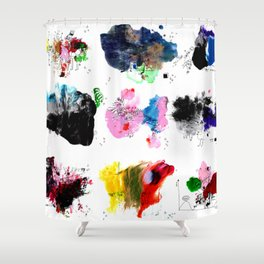 9 abstract rituals (2) Shower Curtain