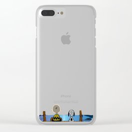 Charlie And Snoopy Clear iPhone Case
