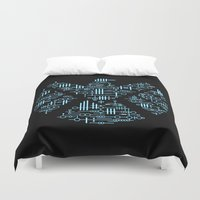 agents of shield Duvet Covers featuring Alien Agents by Doodle Dojo