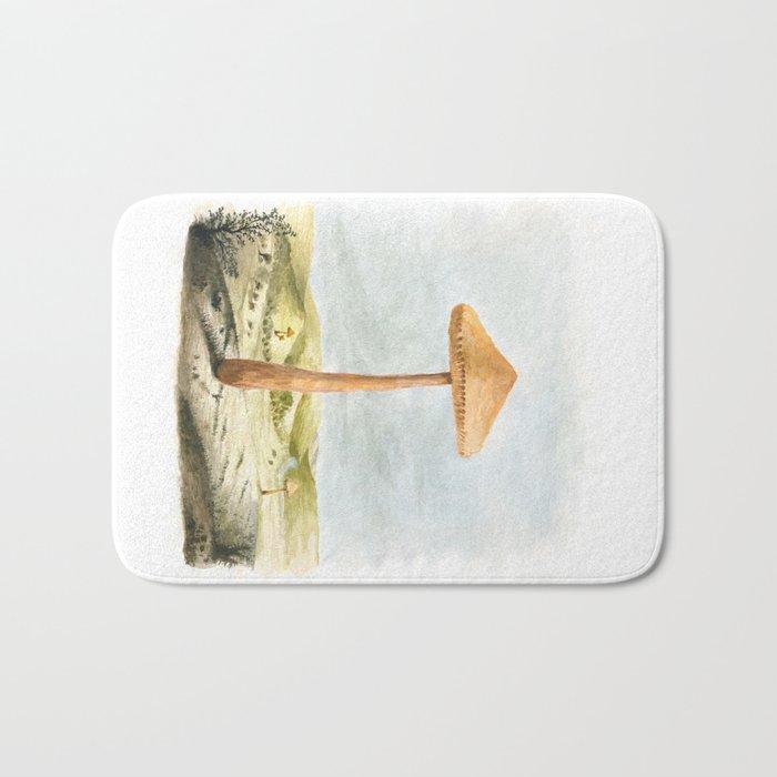 Mushland - Watercolors Bath Mat
