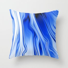 Streaming Blues Throw Pillow