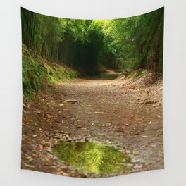 Puddle of water Wall Tapestry
