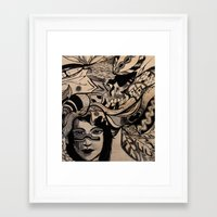 headdress Framed Art Prints featuring Headdress by creative kids