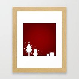 Christmas Red Theme Framed Art Print