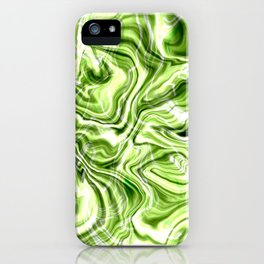 Green marble texture iPhone Case