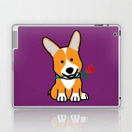 Corgi dog puppy Pembroke Welsh Valentine Rose Laptop & iPad Skin
