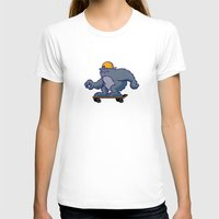 bigfoot T-shirts featuring Bigfoot Rollin' by BoilerRoom Studios
