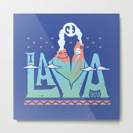 One Lava Metal Print