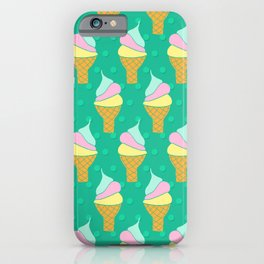 Retro Soft Ice Cream Cones iPhone Case