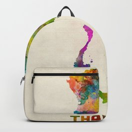 Thailand Watercolor Map Backpack