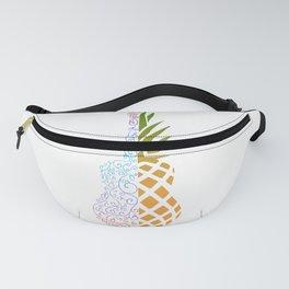 Colorful Pineapple Ukulele Fanny Pack
