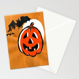 Vintage Jack o' Lantern and Bats Stationery Cards