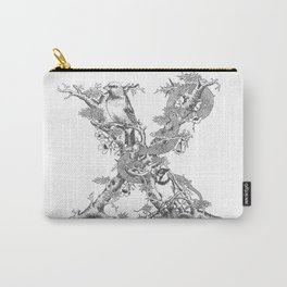 Letter 'X' Monochrome Carry-All Pouch