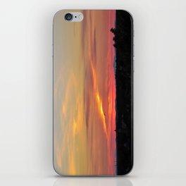 July Sunset in Portland, Maine (2) iPhone Skin
