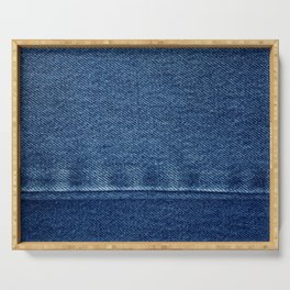 Blue Jean Texture V4 Serving Tray