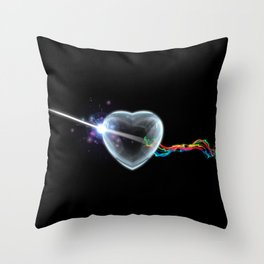 The Dark Side of the Heart Throw Pillow