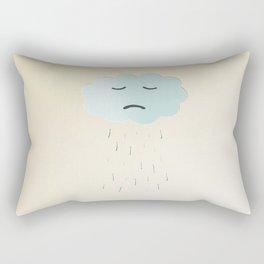 Sad Cloud Rectangular Pillow