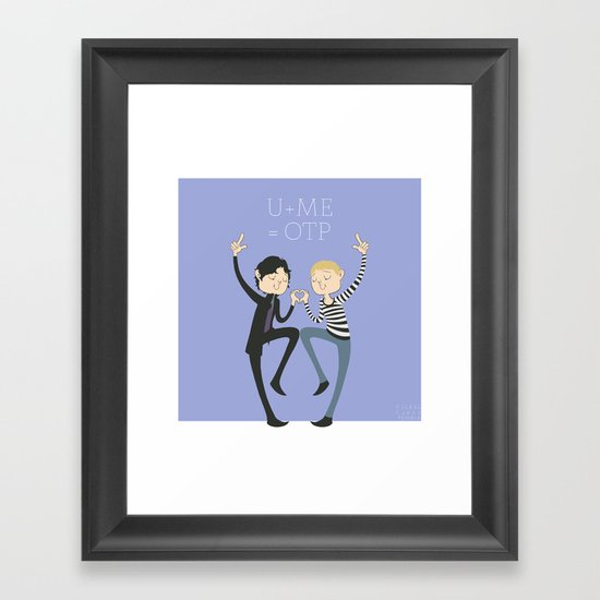 U + ME = OTP Framed Art Print