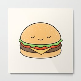 Happy Burger Metal Print