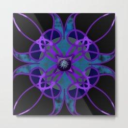 Flower in Purple Metal Print