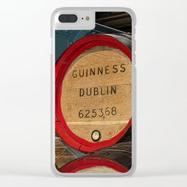 Guinness beer barrel - great man cave art! Clear iPhone Case