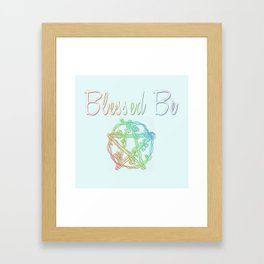 Blessed be with pentacle Framed Art Print