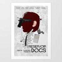 reservoir dogs Art Prints featuring Reservoir Dogs  by edgarascensao