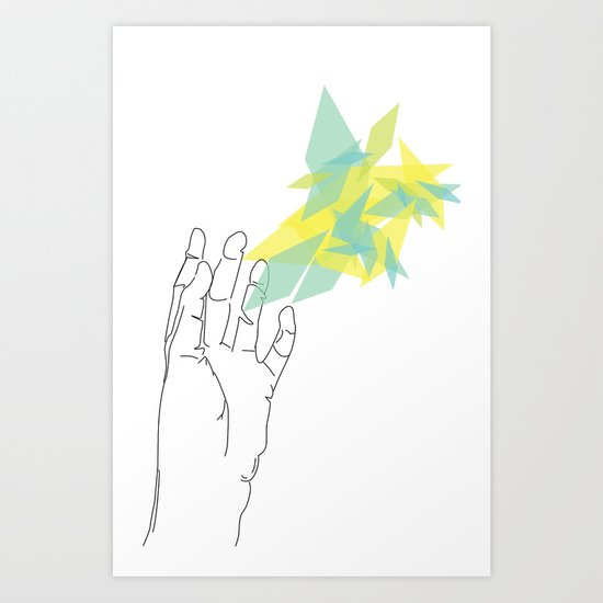 Lines of Your Hand Art Print