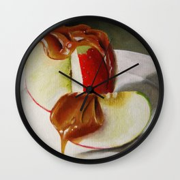 Caramel Apple Wall Clock