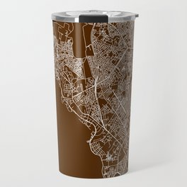 Dakar Streets Map Travel Mug