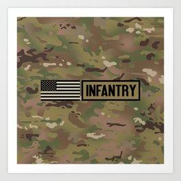 Infantry (Camo) Art Print