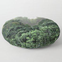 Tropical Foggy Forest Floor Pillow