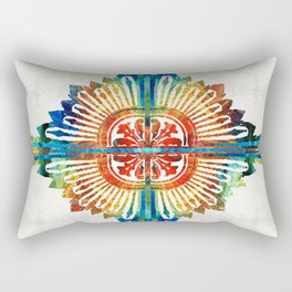 Pattern Art - Color Fusion Design 1 By Sharon Cummings Rectangular Pillow