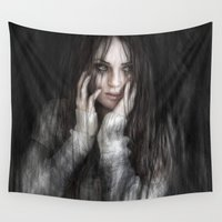 vampire Wall Tapestries featuring Vampire by Justin Gedak